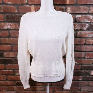 Urban Outfitters Ivory Nubby Knit Sweater Boatneck